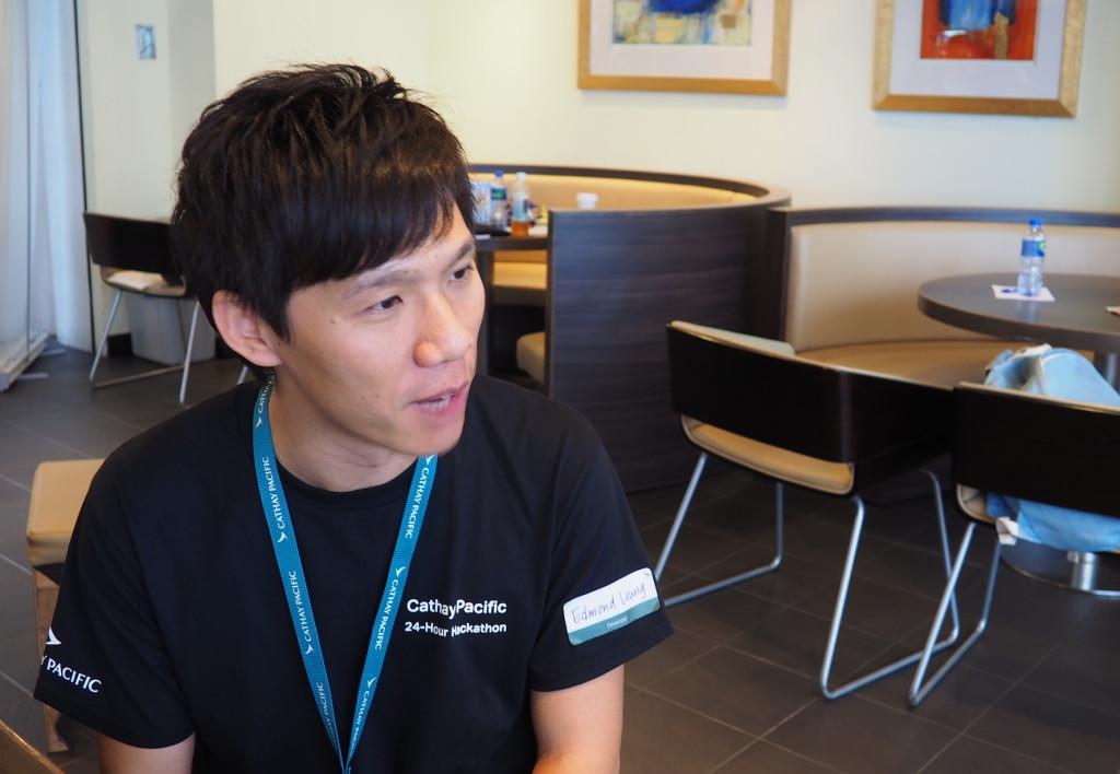 國泰網頁開發組組長梁國聰(Edmond)